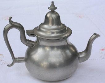 Vintage Pewter Tea Pot from Woodbury Pewterers