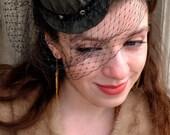 Brown Plaid Mini Top Hat