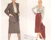 """1970s Vintage Vogue American Designer - Calvin Klein - No.2270 - Vintage Size 12 - Cut - Jacket Skirt Blouse - Bust 34"""""""