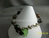 Fall flower Green Opal Bracelet