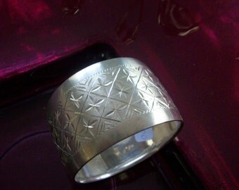 Sterling Silver Cuff  Bangle Bracelet