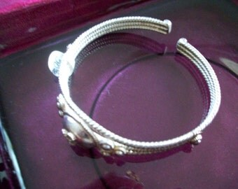 Sterling Silver motif Bracelet Free shipping