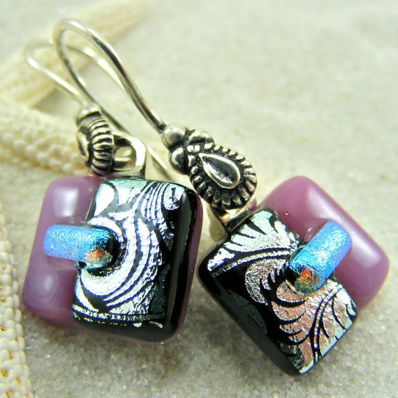 Wonderful Winter Fused Glass Earrings