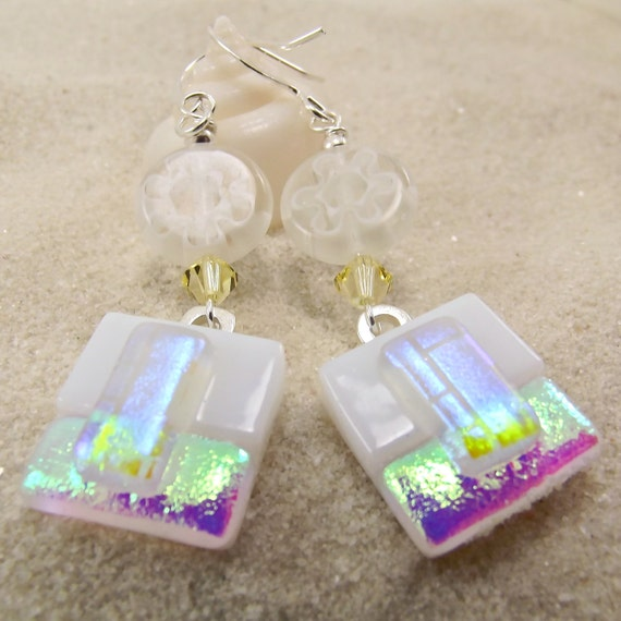Sopadilly Silly Fused Glass Earrings