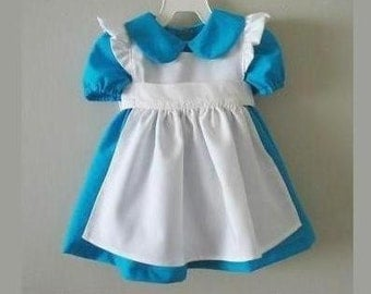Toddler dress inspired by Alice in Wonderland dress /costume or birthday