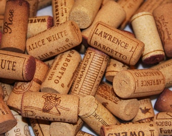 WINE CORKS  Bag of 100 Composite Corks - 100% Composite Natural Cork Used Wine Corks for Crafting... NO Synthetics or champagne corks