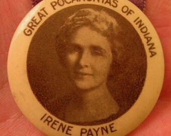 Degree of Pocahontas 1923 Ribbon President Pin Order of Redmen