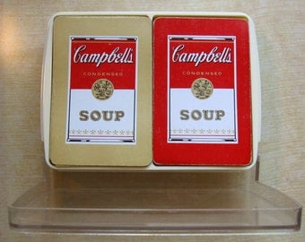 Vintage Campbells Soup Playing Cards 2 Decks in Box