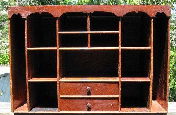 Tabletop Cupbard Cabinet Secretary Shelves Drawers Countertop Desktop