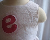 Baby or Toddler Bubble Hem Dress, With Custom Initial