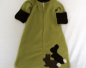 One Piece Fall Jacket with Bunnies for Baby