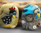 TUTORIAL - Folk Art Style Chicken and Seagull, Lampwork Glass Bead Tutorial