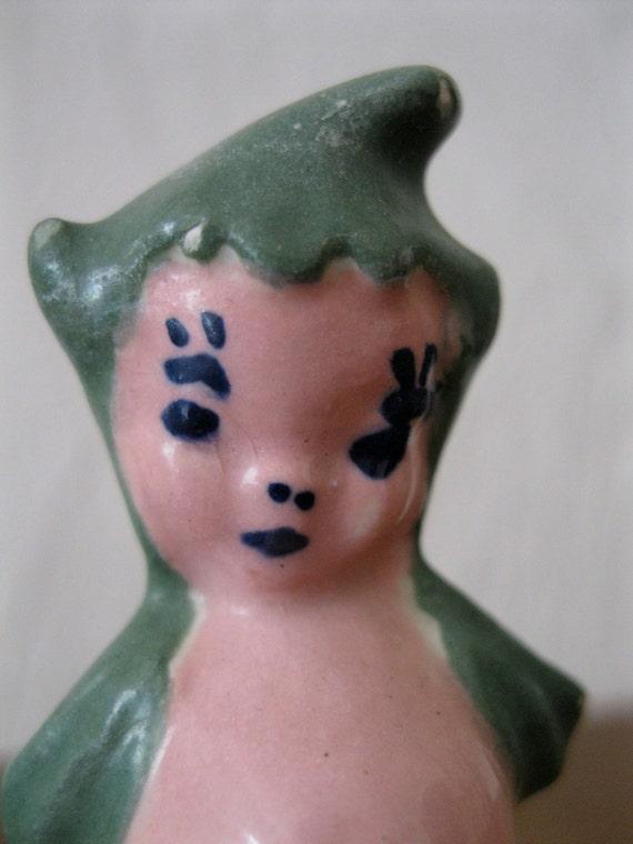 Antique Aquarium Mermaid Figurine