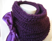 Purple Scarf gift for women Winter Fashion Mothers day Gift under50