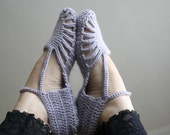 Silver Grey Slippers Mothers Day Gift Under 35