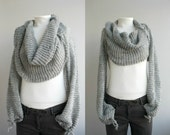 Silver Grey Series Bolero Scarf Shawl Neckwarmer Autumn Fashion Valentine's day  gift under 100
