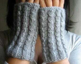Unisex New Season Grey Series No  2  Handknit Fingerless Gloves gift for women and girl Christmas Gift