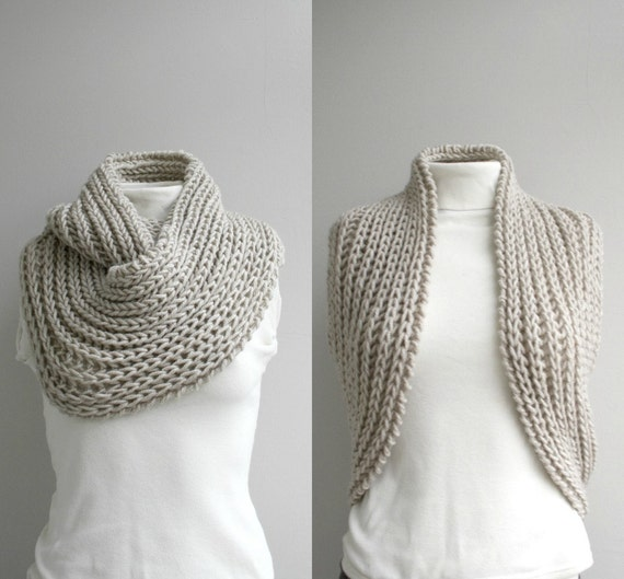 Infinity Loop Scarf Beige Christmas Gift for Her under 60 Unisex