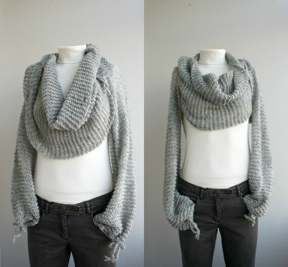 Silver Grey Series Bolero Scarf Shawl Neckwarmer Autumn Fashion Valentine's day  gift under 100