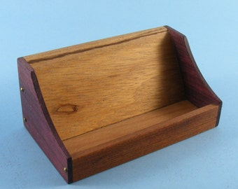 Wooden Business Card Holder, Business Card Presentation, wood, No Stains or Dyes