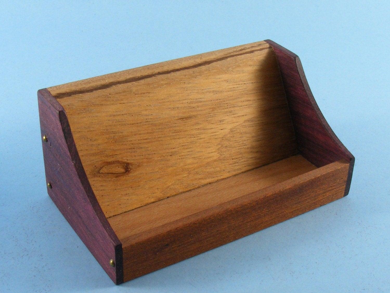 Wooden business card holder business card presentation wood for Wooden business card holders