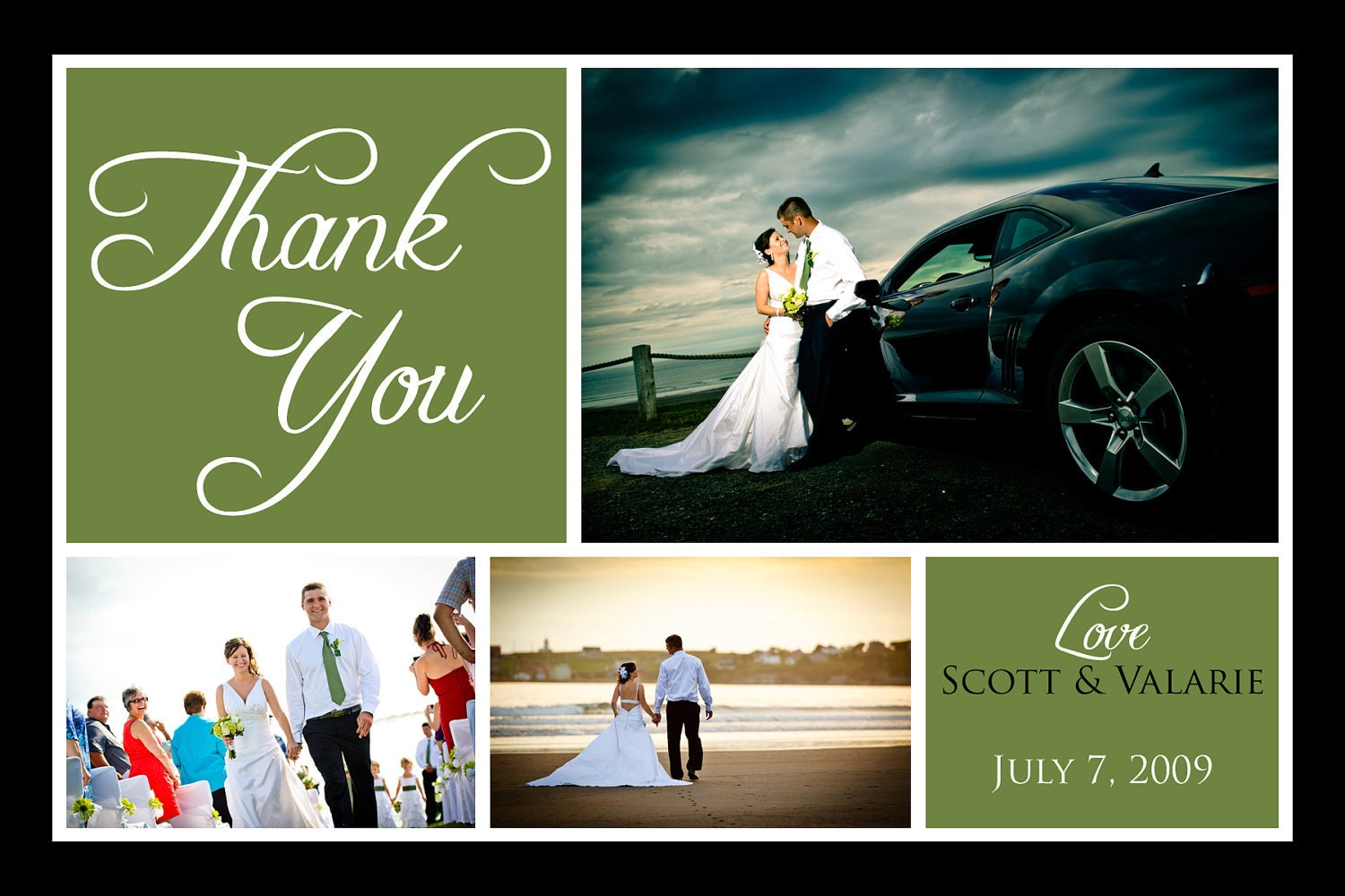 wedding thank you cards custom thank you card scott and
