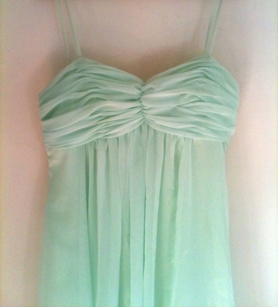 Apple Green Empire Dress