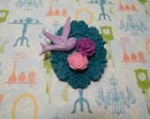 I stole your soul - Brooch in Teal, Pink & Purple