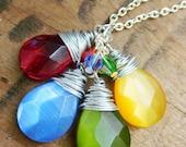 Rainbow Briolette Necklace