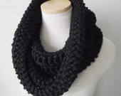 Chunky Crochet Cowl - The Yorkshire Cowl in Oakland Black