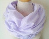 Lavender Cotton Gauze Infinity Scarf