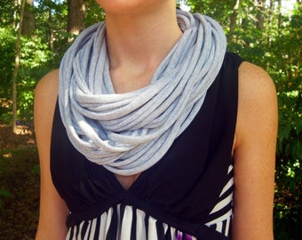 Jersey Tee Circle Scarf - Light Grey Heather