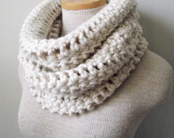 Crochet Cowl - The Yorkshire Cowl in Houston Cream