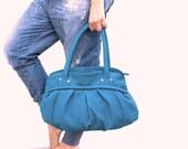 SALES Phaedra in Teal Blue leatherette
