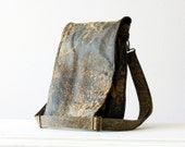 Messenger and Backpack Bag in distressed genuine leather