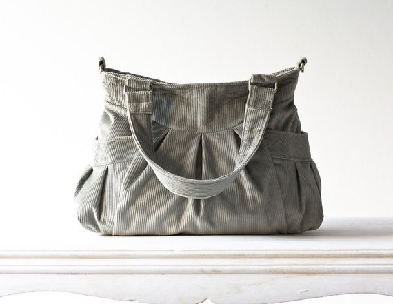 Elessa bag in Grey Corduroy