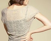 Lace tank - romantic wool lace design - ONLY ONE LEFT