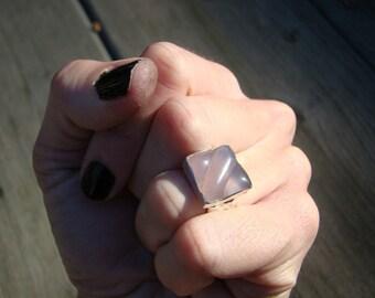 Lavender Jade Jelly Bean Ring ..