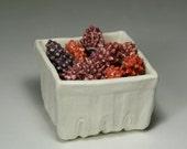Ceramic Black Raspberries - Decorative Faux Fruit