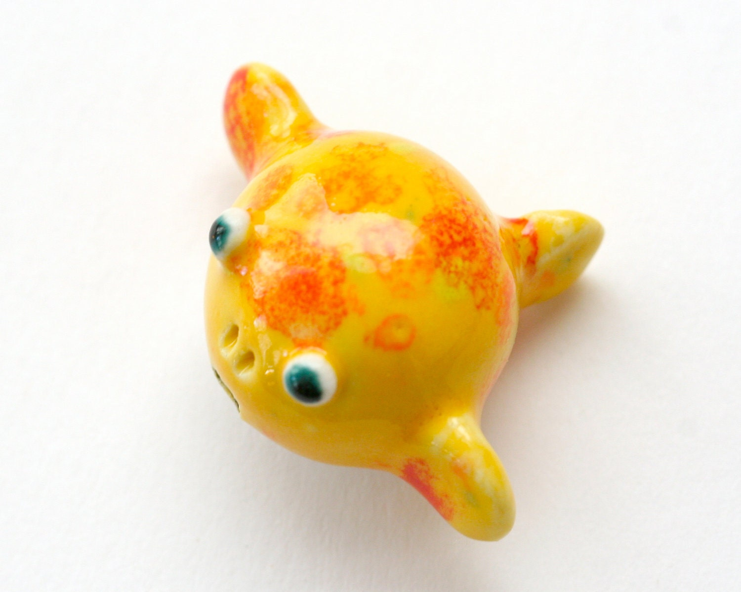 Miniature puffer fish figurine porcelain by amuseyou on etsy for Puffer fish price