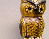 Simon the Vintage Owl Salt Shaker