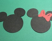 Mickey And Minnie Mouse Head Paper Punches
