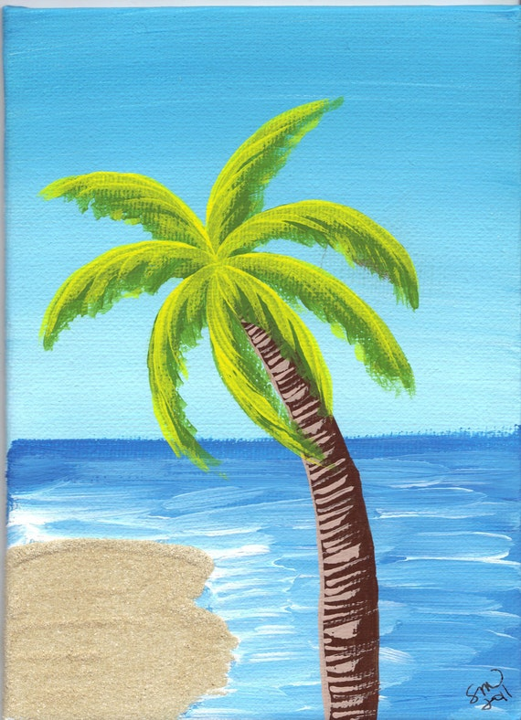 Unavailable listing on etsy for Painting palm trees