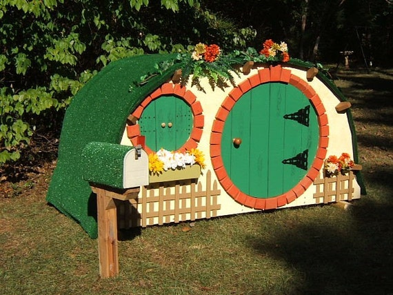 Items similar to unique hobbit fairy style wooden for Hobbit style playhouse