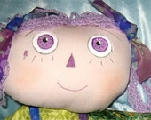 JKW - LAVENDER Purple Beauty Mark DOLL Scented CAT Pillow