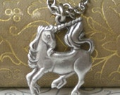 ITEM HAS MOVED - Silver Unicorn Necklace
