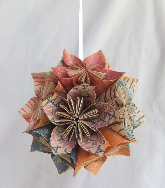 Origami Flower Ornament The Natural Christmas Tree