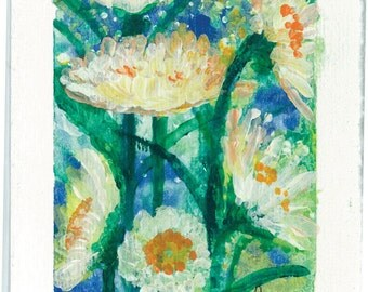 Flowers Rise in Freedom  Original Painting