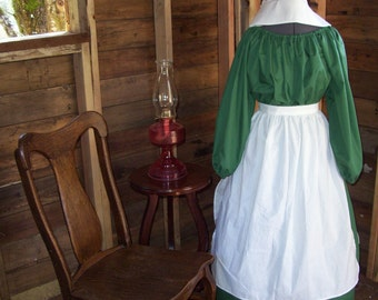 Girls Colonial Dress Costume Civil War Pioneer Prairie -New