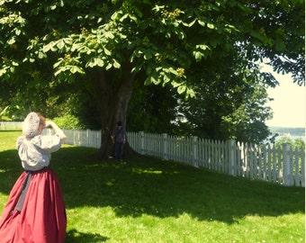 Ladies Prairie Civil War Colonial Tea Day Dress 3 pc Reenactor Reenactment